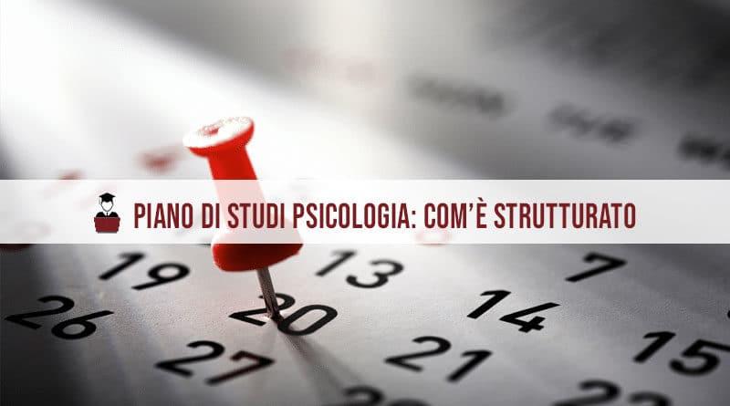 Psicologia piano di studi: com'è strutturato?