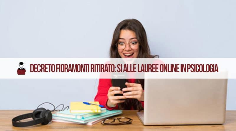 Laurea Psicologia Online ancora possibile: Decreto Fioramonti Ritirato
