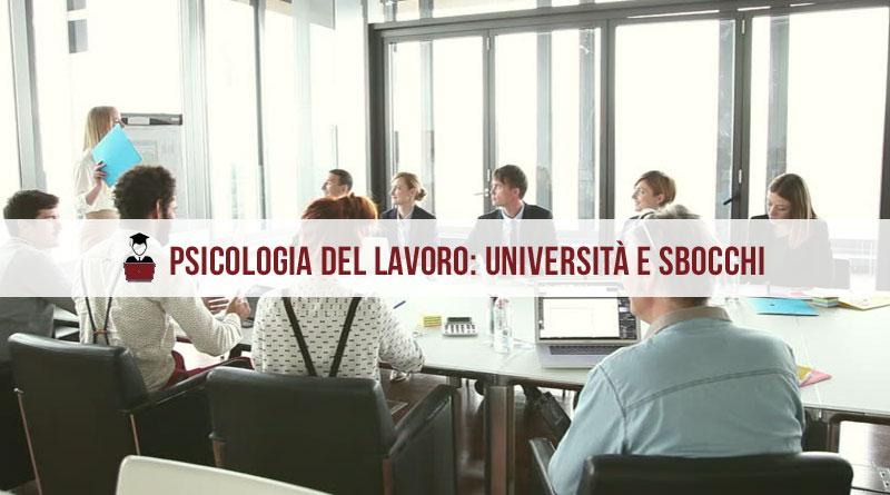 Psicologia del Lavoro Università