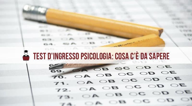 Test d'ingresso Psicologia 2021