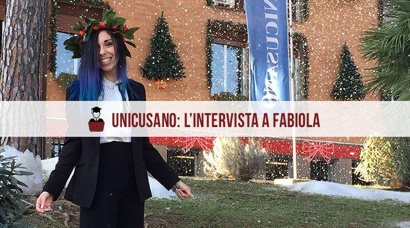 Opinioni Unicusano Psicologia Fabiola